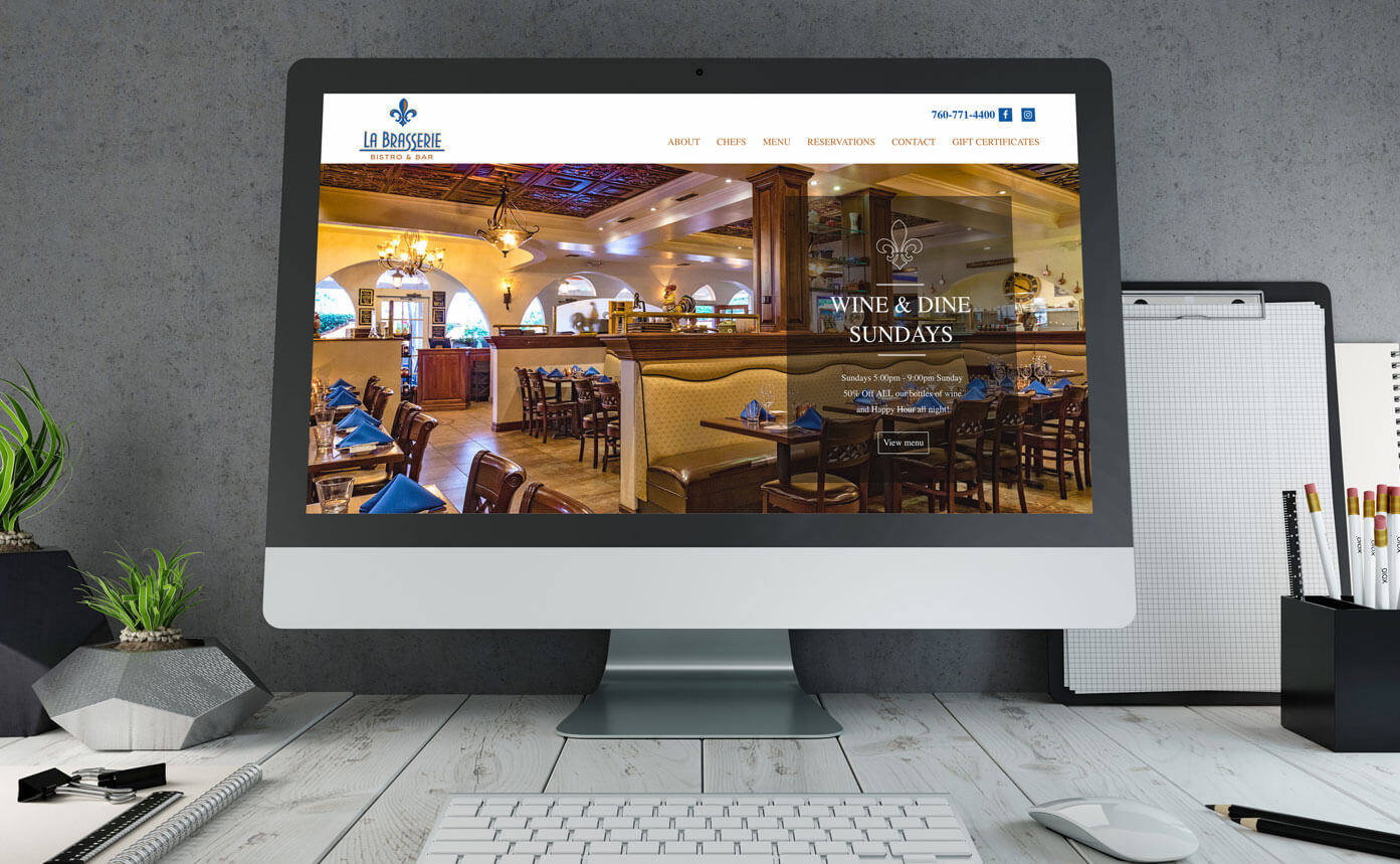 La Brasserie website deign