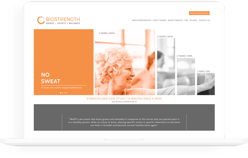 biostrength web design