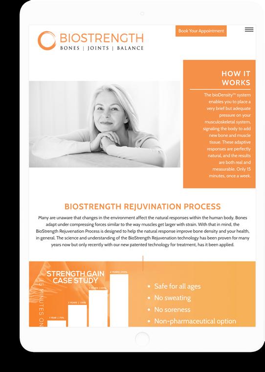 biostrength responsive website