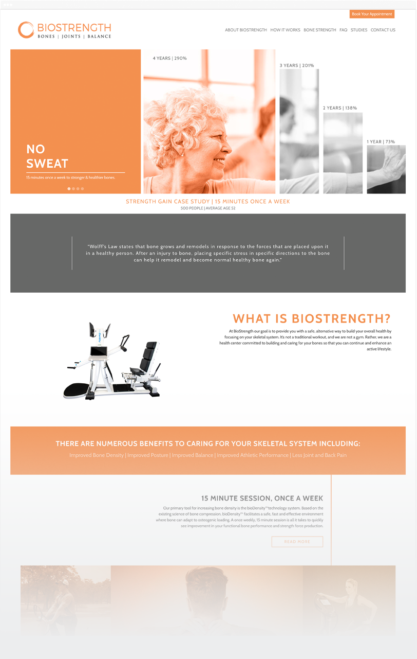 biostrength website design