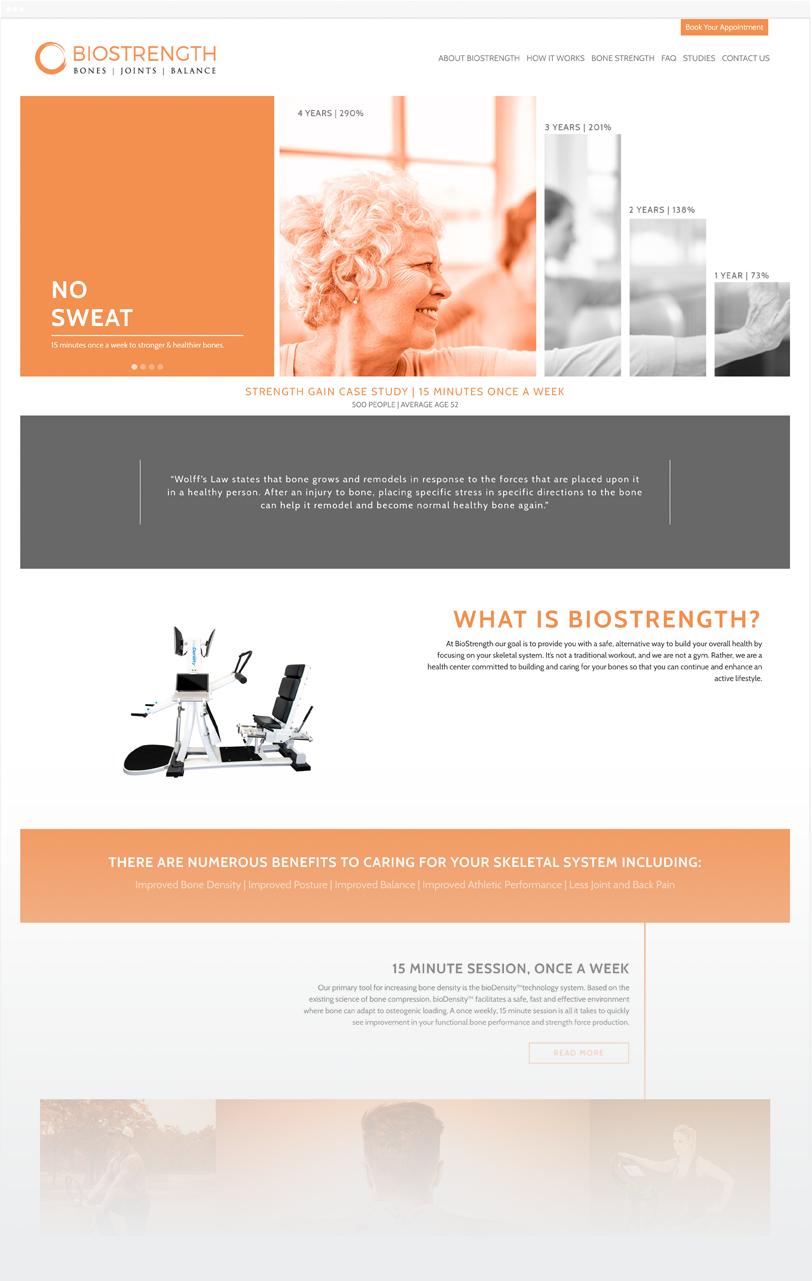 biostrength website design