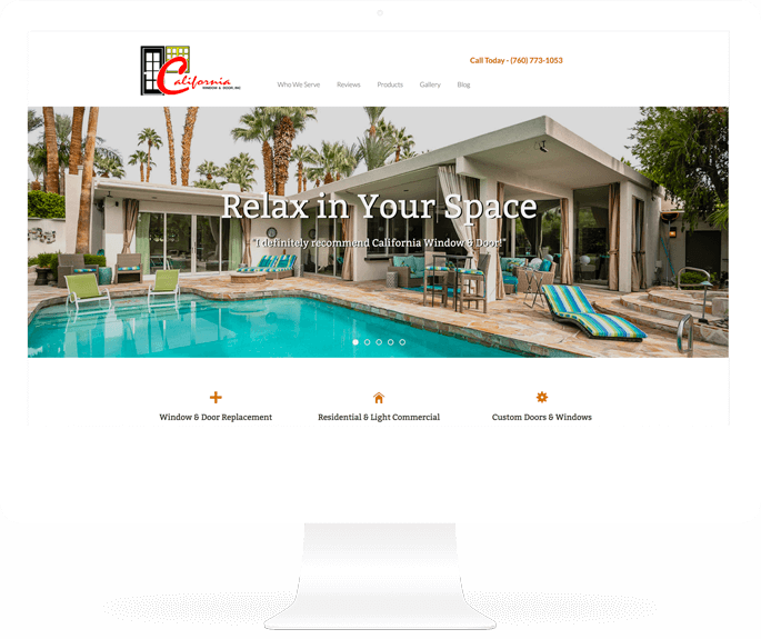 CA Window & Door website design