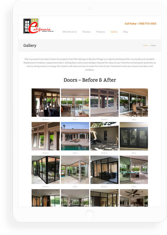 Responsive website for window & door company
