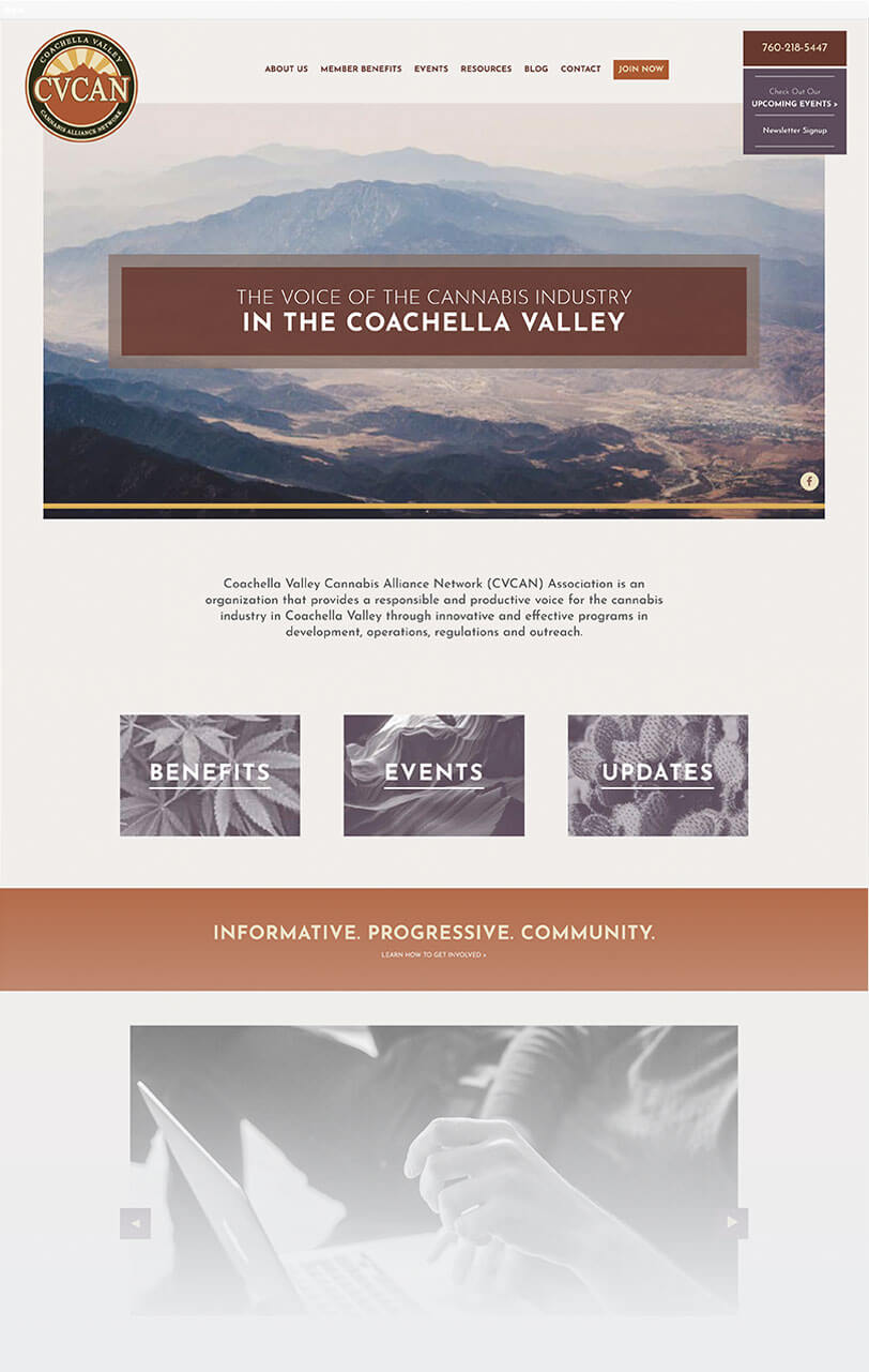 cannabis alliance network responsive website design