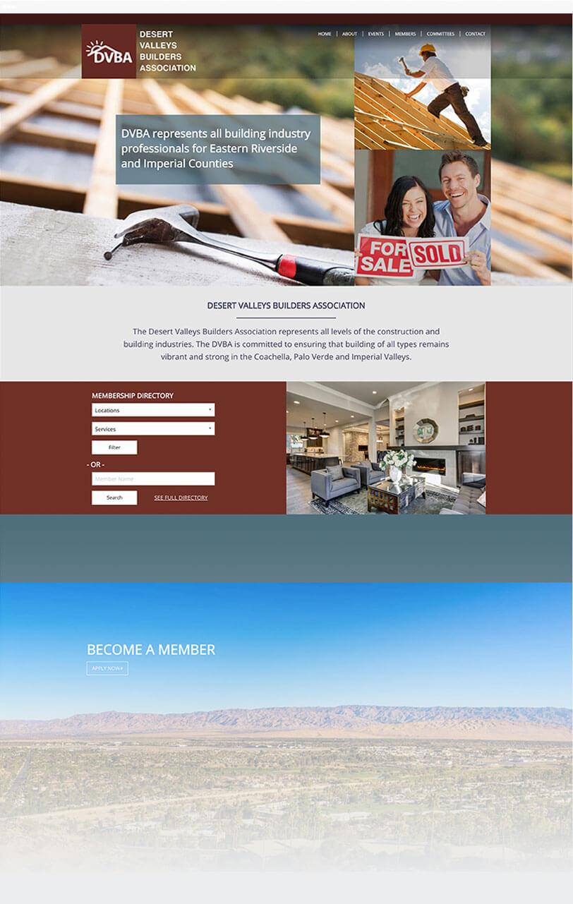 DVBA web design