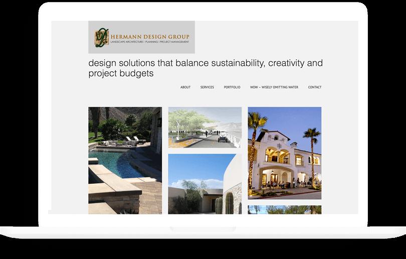 Landscape architecture web design
