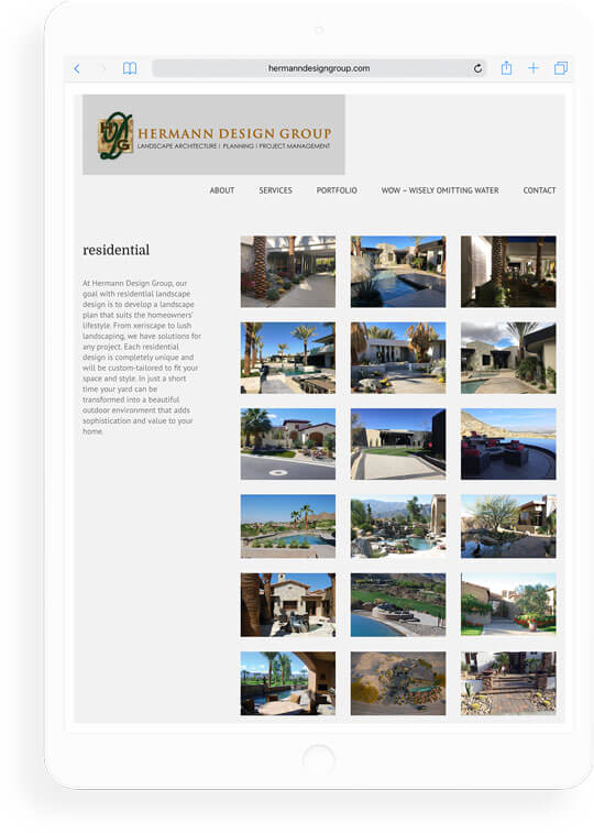 landscape architect firm website gallery
