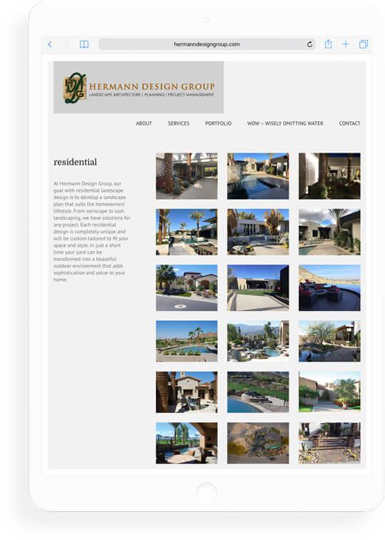 landscape architect firm website gallery