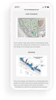 landscape architect firm mobile website design