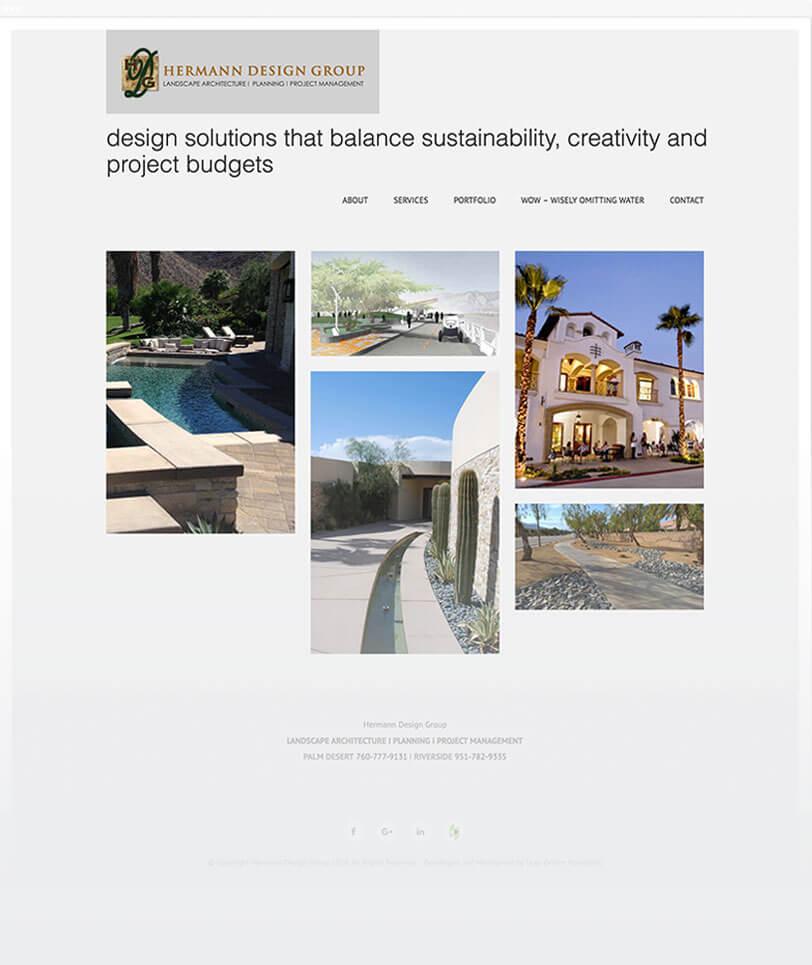 landscape architect group responsive web design