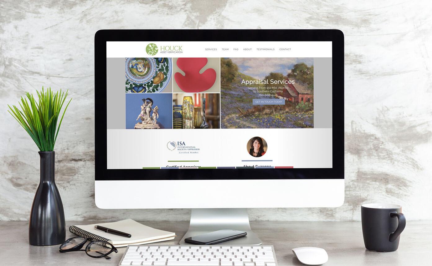 Houck Assset Verification website design