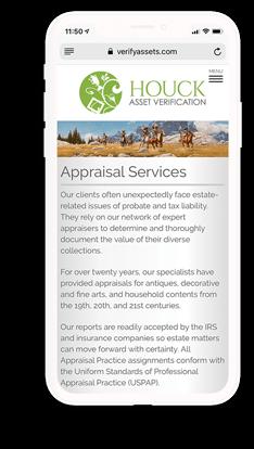 Houck Asset Verification mobile web design