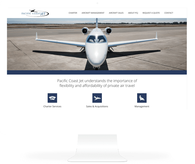pacific coast jet web design