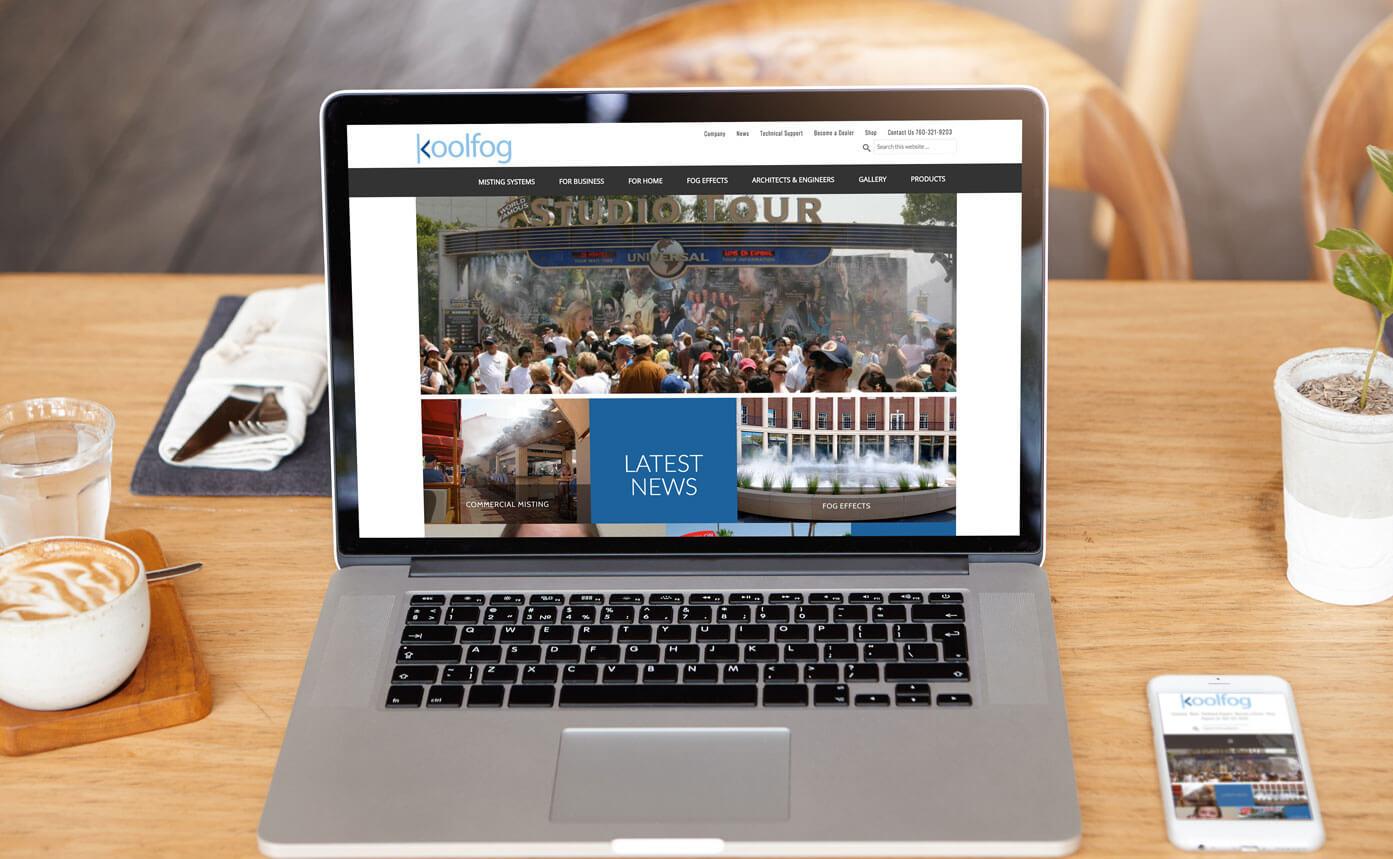 koolfog website design