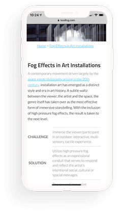 Koolfog mobile website design