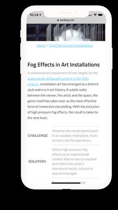Koolfog mobile website design