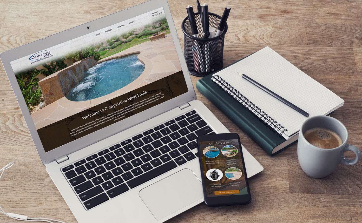 Competitive West Pools website design