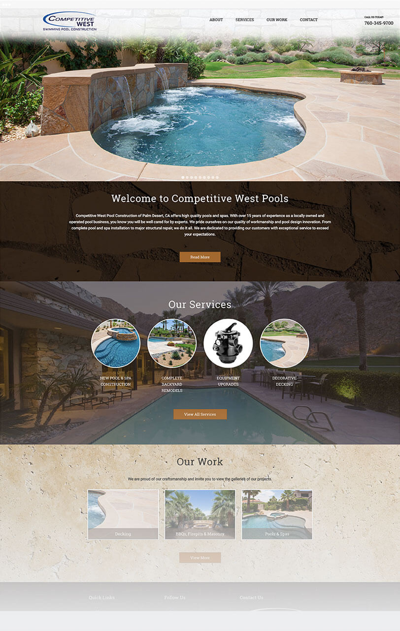Competitive West Pool responsive web design