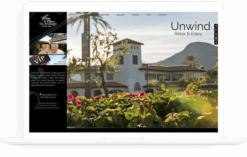 The Village at Indian Wells web design