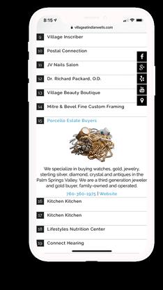 The Village at Indian Wells mobile web design