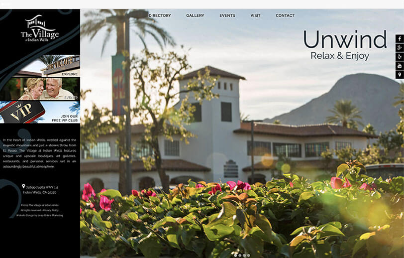 The Village at Indian Wells responsive web design